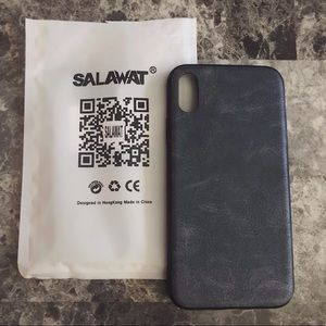 New Black iPhone X Faux Leather Case